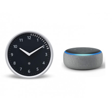 השעון החכם של אלקסה! Echo Wall Clock + הרמקול החכם Echo Dot