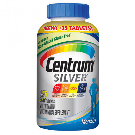 Centrum Silver Men Multivitamin / Multimineral Supplement Tablet, Vitamin D3 (275 Count) (Package May Vary) : כמות - מוצר יחיד (1103715)