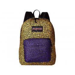 תיק גב JanSport Black Label Superbreak yellow leopard life