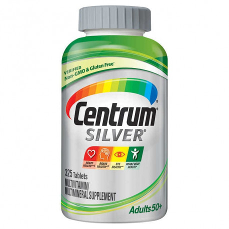 Centrum Silver Adult (375 Count) Multivitamin/Multimineral Supplement Tablet, Vitamin D3, Age 50+ : כמות - זוג (1279985)