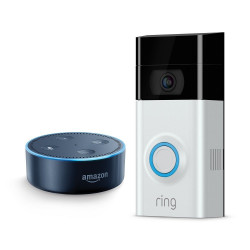 ערכת בית חכם Ring Video Doorbell 2 + Echo Dot