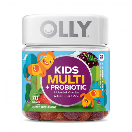 תוסף תזונה לילדים  OLLY Kids Multivitamin and Probiotic